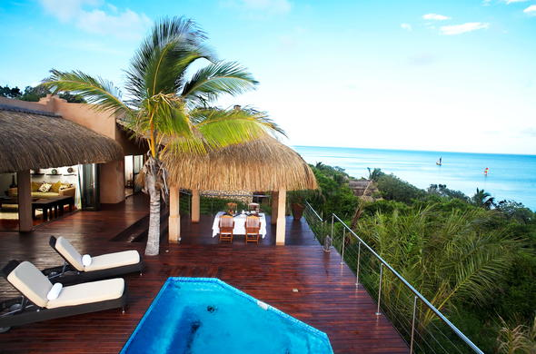 Beach views from your private Villa deck.
