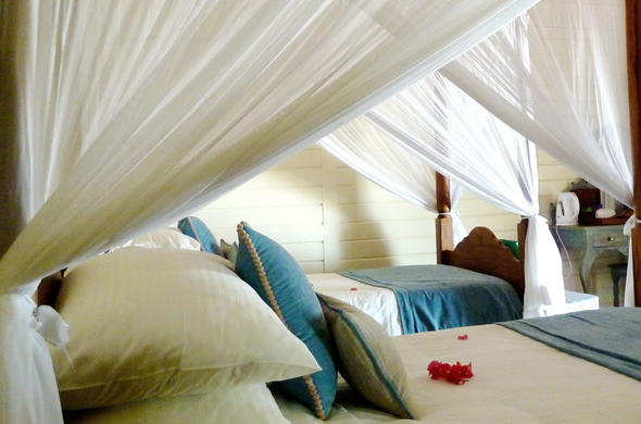 Twin-bedded at Anantara Medjumbe Private Island.