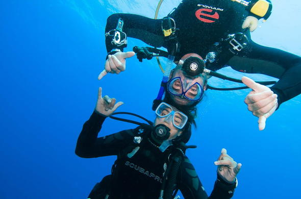 Scuba divers in Mozambique.