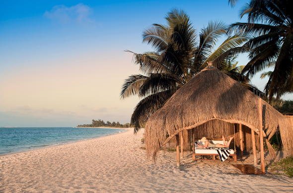 Laze on the private beach on Benguerra Island, Mozambique.