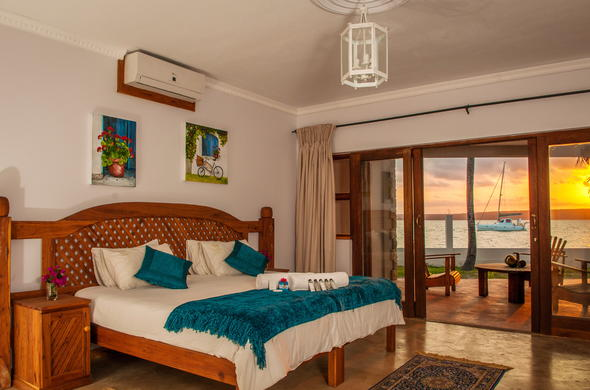 Beach accommodation with luxury amenities and scenic beach views.