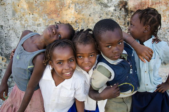 Children and local culture of Mozambique.