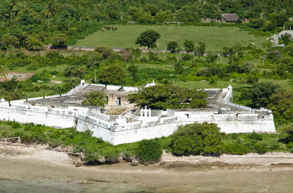 Ibo Island fort in a star shape.