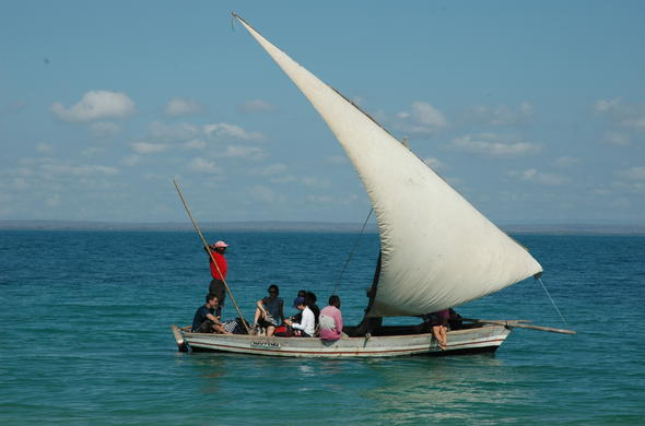 Dhow sailing safari in Mozambique.