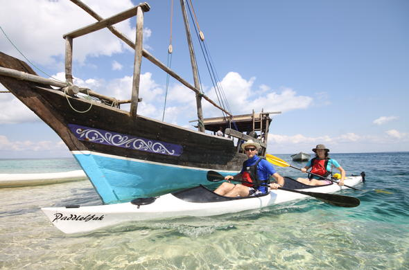 Sail the seas on kayaking and dhow excursions.
