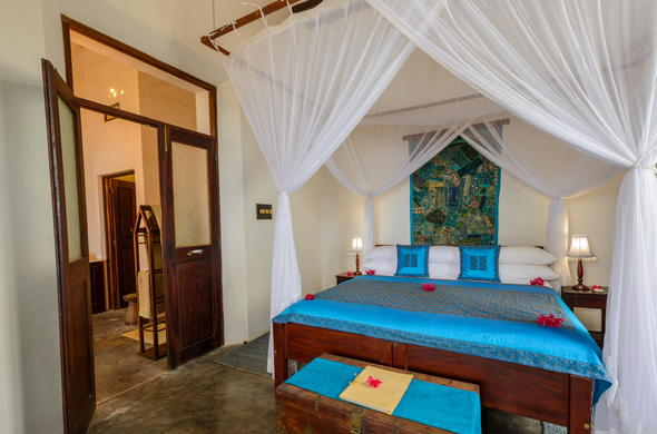 Mweezi room at Ibo Island Lodge.