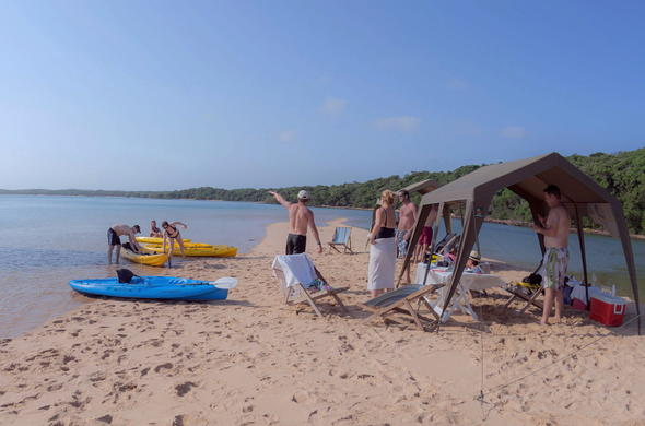 Typical day on a Mozambique Beach Holiday.