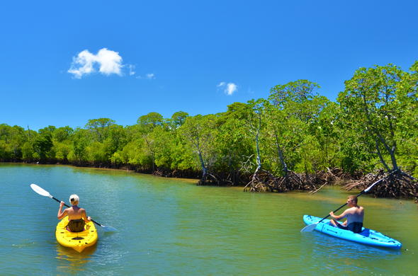 Kayaking is offered at Machangulo Beach Lodge.