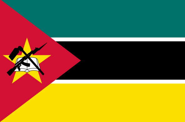 Colours of the Mozambique flag.