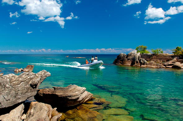 Boat excursions on Lake Niassa.